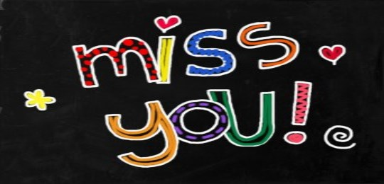 sign that says miss you